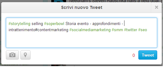 storytelling selling superbowl tweet 3