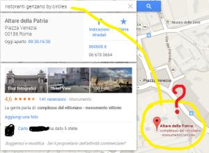 ricerca google maps recensioni per cerchie
