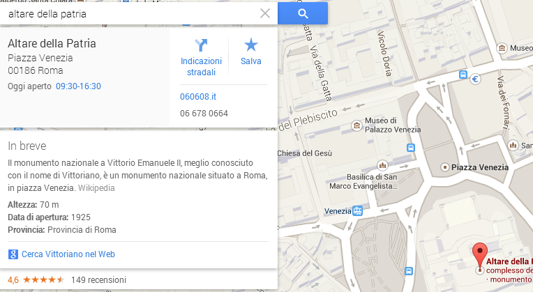 altare della patria knowledge graph