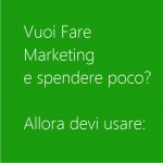 fai marketing a poco costo