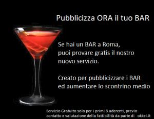 pubblicizzare bar, servizio di marketing low cost a Roma