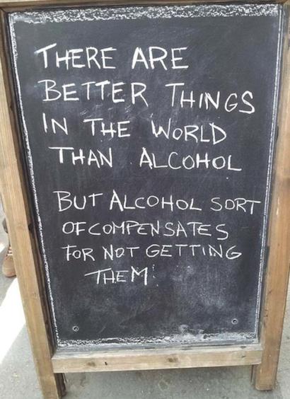 insegne di bar divertenti marketing per bar ci sono cose migliori nella vita dell'alcool