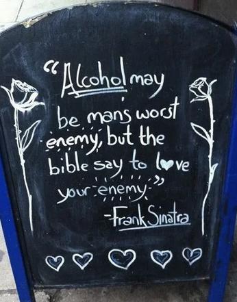 insegne di bar divertenti marketing per bar citazione frank sinatra