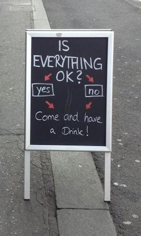 insegne di bar divertenti marketing per bar comunque sia apposto o no