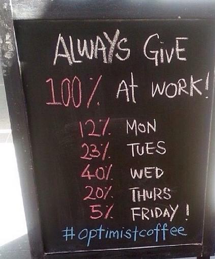 insegne di bar divertenti marketing per bar dare sempre il 100 per 100 a lavoro