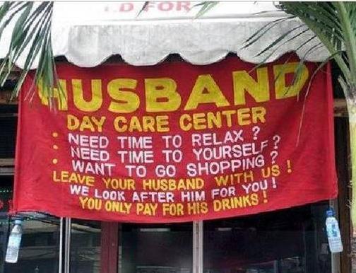 insegne di bar divertenti marketing per bar giorno cura dei mariti
