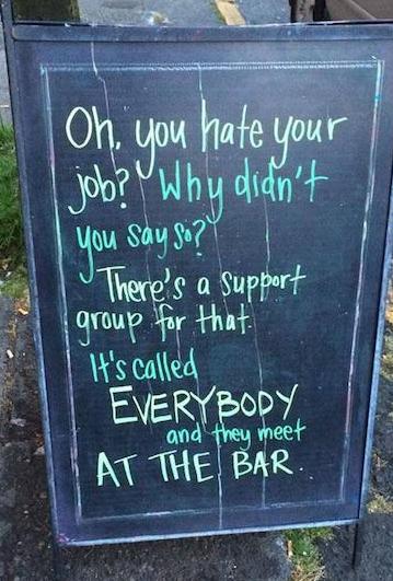 insegne di bar divertenti marketing per bar odia il tuo lavoro