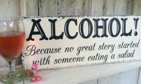 insegne di bar divertenti marketing per bar perché nessuna storia è iniziata con qualcuno che mangiava insalata