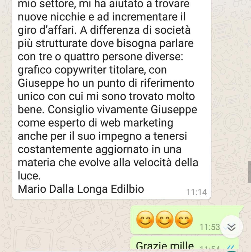 Recensione Mario per Giuseppe Schettino Web Marketing Roma Okkei parte 2